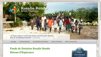Site internet de Fonds de Dotation Rosalie Rendu