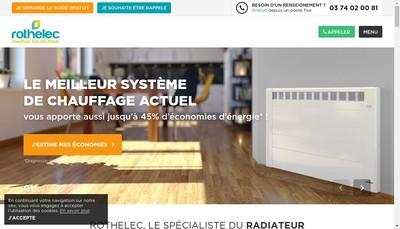 Site internet de SA Rotelec