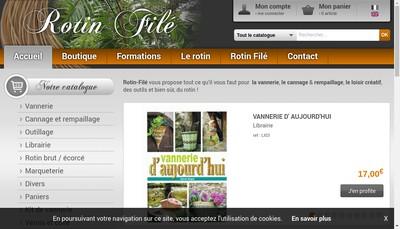 Site internet de Societe du Rotin File Gaude et Compagnie