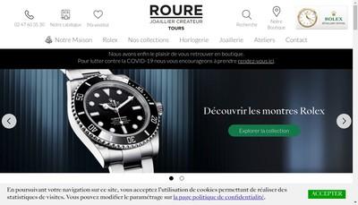 Site internet de Roure Joaillier