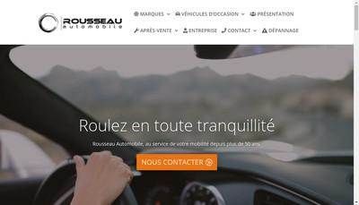 Site internet de Rousseau Automobile