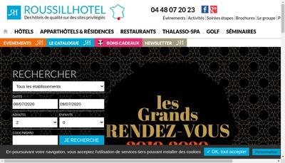 Site internet de Roussill Hotel
