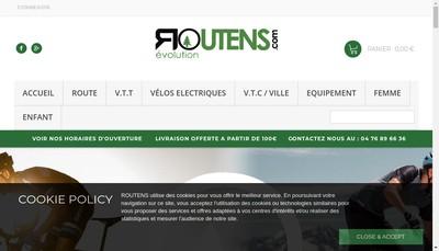 Site internet de Cycles Routens