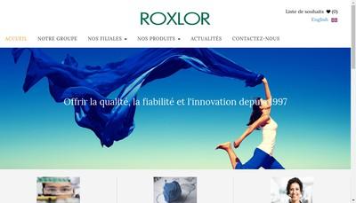 Site internet de Roxlor
