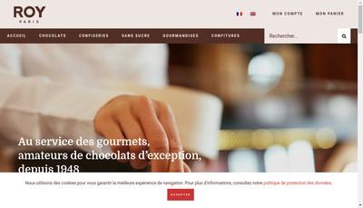 Site internet de Roy Chocolatier