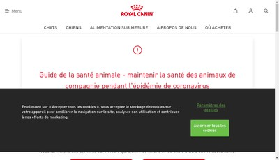 Site internet de Royal Canin SAS