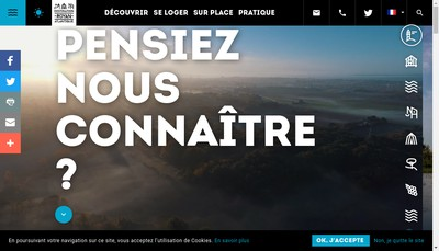 Site internet de Destination Royan Atlantique