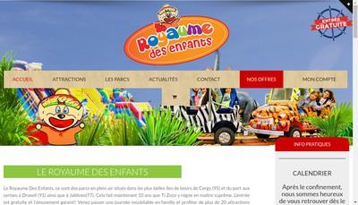 Site internet de Le Royaume Fantastique des Enfants