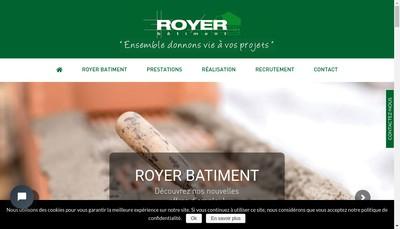 Site internet de SARL Royer Batiment
