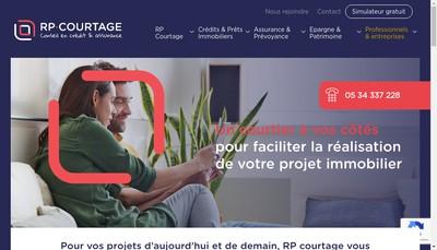 Site internet de Rp Courtage