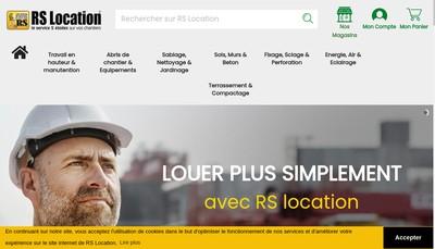 Site internet de Rs Location Outillage