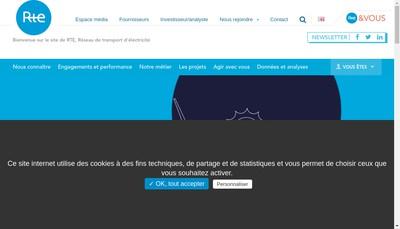 Site internet de RTE