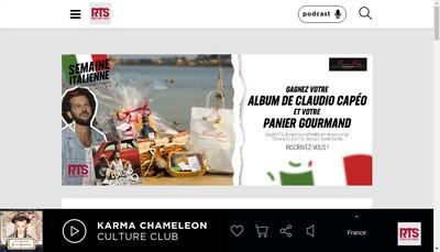 Site internet de Rts Fm