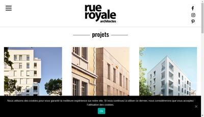 Site internet de Rue Royale Architectes