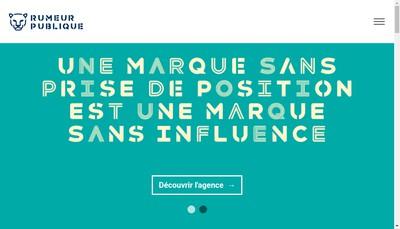 Site internet de Rumeur Publique Group