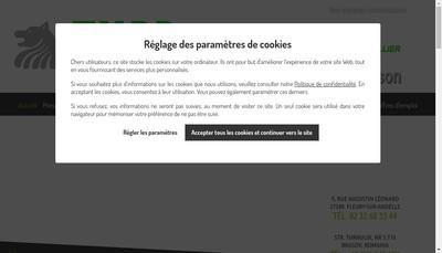 Site internet de Caudrillier Sn Husson