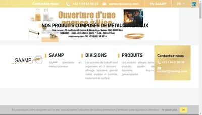Site internet de Saamp Groupe