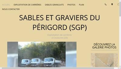 Site internet de Sables et Graviers du Perigord
