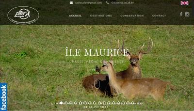 Site internet de Sable Safari