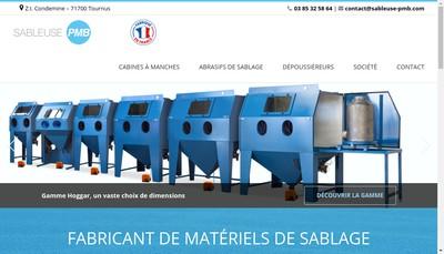 Site internet de Sableuses Pmb