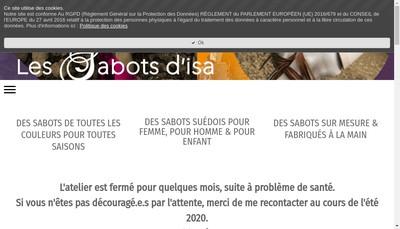 Site internet de Les Sabots d'Isa