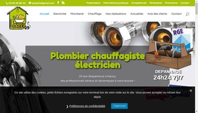 Site internet de Sacep 2 S