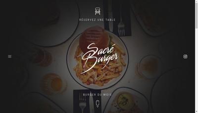 Site internet de Sacre Burger