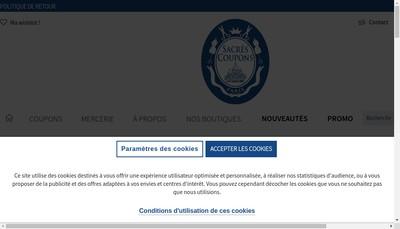 Site internet de Sacres Coupons