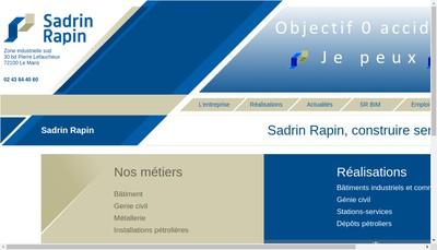 Site internet de Sadrin Rapin