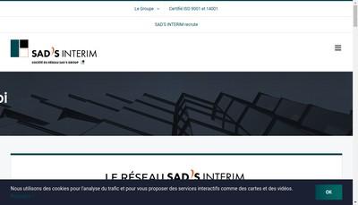 Site internet de Sad'S Interim 12
