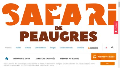 Site internet de Safari Parc du Haut Vivarais