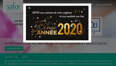 Site internet de Safor Sante Formation