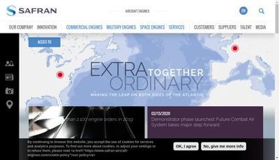 Site internet de Safran Aircraft Engines