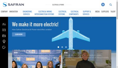 Site internet de Safran Electrical & Power