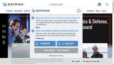 Site internet de Safran Electronics & Defense