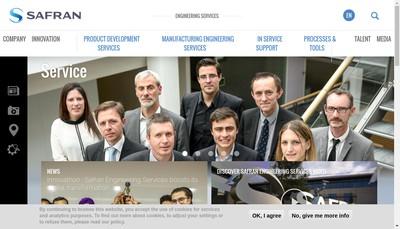 Site internet de Safran Engineering Services