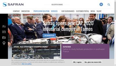 Site internet de Safran Helicopter Engines