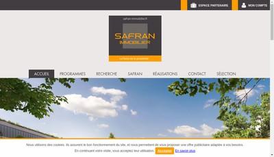Site internet de Safran Immobilier Commercialisation