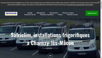 Site internet de Systeme Application Frigorifique Climati