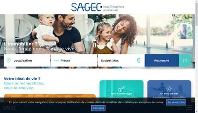 Site internet de Sagec Imprimerie