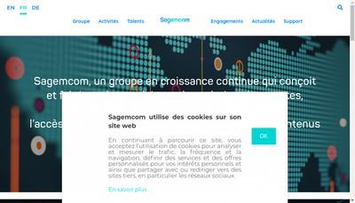 Site internet de Sagemcom Documents SAS