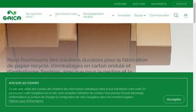 Site internet de Saica Pack El