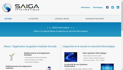 Site internet de Saiga Informatique