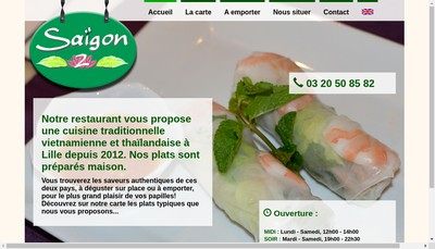 Site internet de Saigon 2