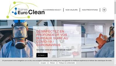 Site internet de Saines Euro Clean