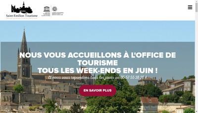 Site internet de Office de Tourisme du Grand Saint-Emilionnais