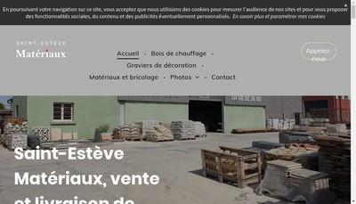Site internet de Saint Esteve Materiaux