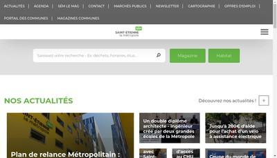 Site internet de Cap Metropole