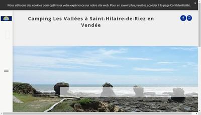 Site internet de Camping les Vallees