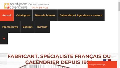 Site internet de Editions Saint Jean Calendriers